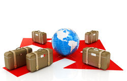 The concept of distribution of luggage at the airport Royalty Free Stock Images