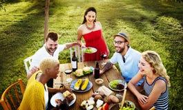 Concept divers d'amitié d'unité de partie de personnes Photos stock