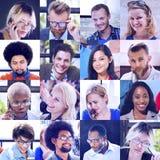 Concept divers de personnes de groupe de visages de collage photos stock