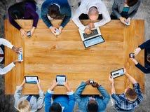 Concept diversiteits het Bedrijfs van Team Planning Board Meeting Strategy royalty-vrije stock foto's