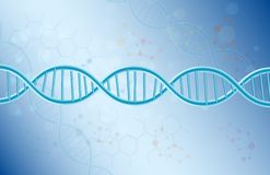 Concept Dna on blue background Royalty Free Stock Image