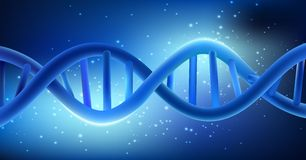 Concept Dna on blue background Royalty Free Stock Photos