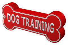 Concept: dog training. 3D rendering. Stock Images