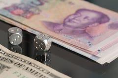 Concept dollar vs yuan Stock Photos