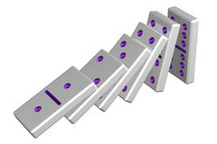 Concept: domino effect. 3D rendering. Stock Images