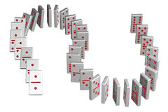Concept : domino effect Stock Images