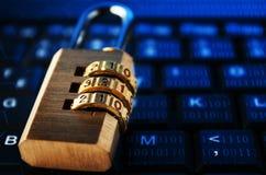 Concept donker zijinternet Censuur in Internet royalty-vrije stock foto's
