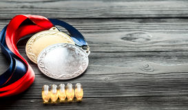 Concept of doping in sport - deprivation medals Stock Images