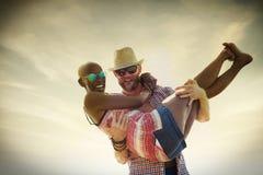 Concept doux d'amour de couples de vacances d'été de plage Photo stock
