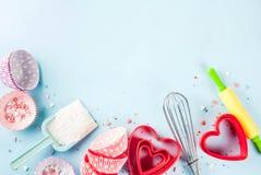 Concept doux de cuisson pour le jour du ` s de Valentine Images libres de droits