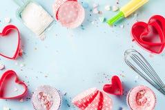Concept doux de cuisson pour le jour du ` s de Valentine Images stock