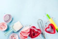 Concept doux de cuisson pour le jour du ` s de Valentine Photos stock