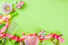 Concept doux de cuisson pour Pâques Photographie stock libre de droits
