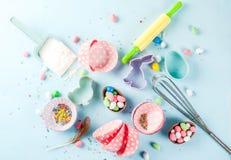 Concept doux de cuisson pour Pâques Photographie stock
