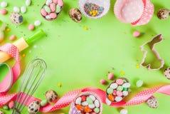 Concept doux de cuisson pour Pâques Photo stock