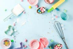 Concept doux de cuisson pour Pâques Photos stock