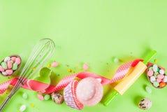 Concept doux de cuisson pour Pâques Photo libre de droits