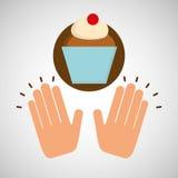 Concept doux de dessert de gâteau de tasse Image libre de droits