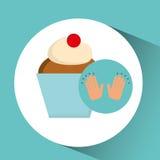 Concept doux de dessert de gâteau de tasse Photos stock