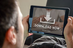 Concept of download. Download concept illustrated by a picture on background Royalty Free Stock Photo
