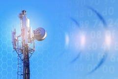 Concept draadloos radiointernet 5G 4G, 3G mobiele technologieën Royalty-vrije Stock Foto