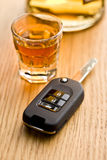 Concept for drink driving Royalty Free Stock Photos