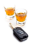 Concept for drink driving Stock Photography