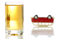 Concept for drinking and driving Stock Images
