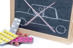 Concept about driving under influence of medicines Stock Photo