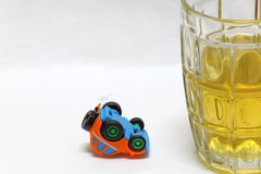 Concept drunk and drive Royalty Free Stock Images