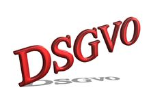 Concept `DSGVO` basic regulation in 3D Stock Image