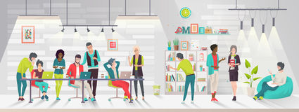 Concept du centre coworking illustration stock