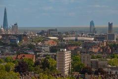 Concept du centre urbain de district des affaires de vue de ville image libre de droits