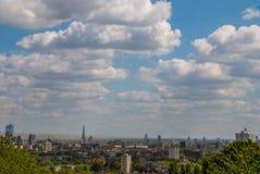 Concept du centre urbain de district des affaires de vue de ville image stock