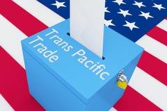 Concept du commerce de transport Pacifique Images libres de droits