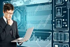 Concept du commerce et de technologie photo stock