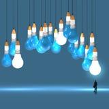 concept du crayon 3d et de l'ampoule créatif Image stock