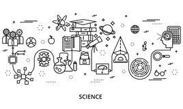 Concept du développement de la science, pour le graphique et le web design Image libre de droits