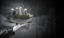 Concept du développement urbain moderne image stock