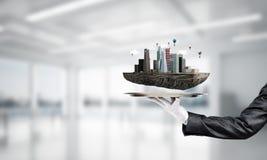 Concept du développement urbain moderne photo stock