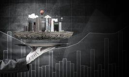 Concept du développement urbain moderne images libres de droits
