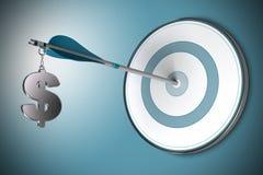 Concept du dollar, conseiller financier ou finances Advis Photos stock