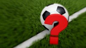 Concept du football Image libre de droits