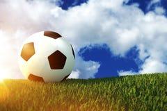 Concept du football 3D du football Images libres de droits