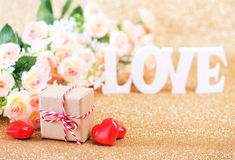 Concept du jour de Valentine Photos stock