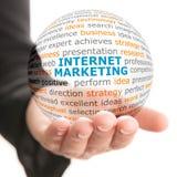Concept du marketing d'Internet dans les affaires Photographie stock