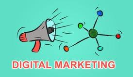 Concept du marketing numérique Images stock