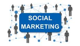 Concept du marketing social illustration stock