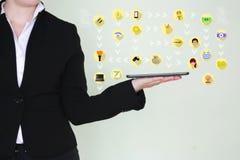 Concept du monde de la technologie Business Image stock