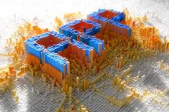 Concept du pixel APP Photos stock